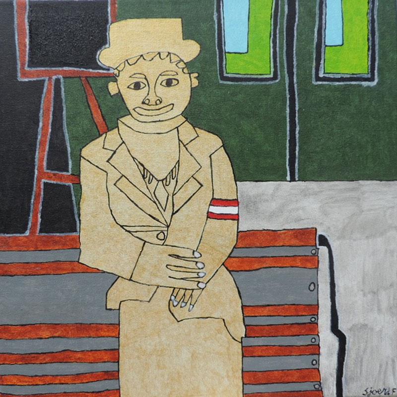 Vrouw bij Station Utrecht